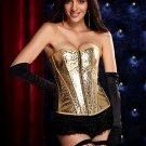 Striking Gold Burlesque Zipper Corset