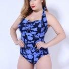 Plus Size One Piece Halter Swimsuit