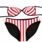 Rubber Red Striped Bikini