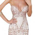 Sexy Sequin Spaghetti Strap Party Club Bodycon Dress