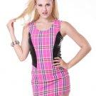 Grid Clubwear Mini Dress
