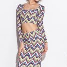 Long Sleeve Scoop Neck Two Piece Set