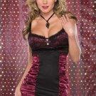 Sexy ruffle lace mini dress