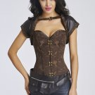 Steel Bone Steampunk Corset with Jacket and Belt