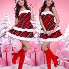 Strapless Christmas Mini Dress