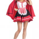 Romantic Red Hood French Maid Costume