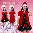 Velvet Santa's Pleated Dress