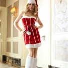 White Stripe Santa Criss Cross Dress