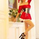 Off The Shoulder Velvet Santa Princess Dress