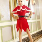 Santa's Velvet Scalloped Trim Costume