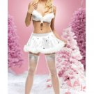 Snowflake Sequined Bra and Skirt