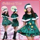 Velvet Christmas Tree Style Pleated Dress