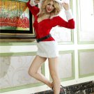 Long Sleeves Santa Fuzzy Dress