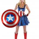 Girls' Captain America Costume
