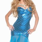 Mermaid Costume Strapless Dress