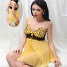 Yellow Babydoll With Ruffle Top