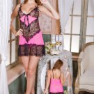 Colorblock and Lace Chemise