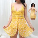 Polka Dot Print Yellow Babydoll