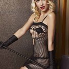 Black Fishnet Chemise Dress