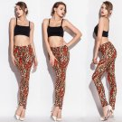 Orange Tiger Printed Legging