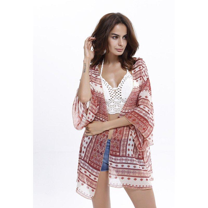 Bohemian Style Classic Chiffon Mini Robe