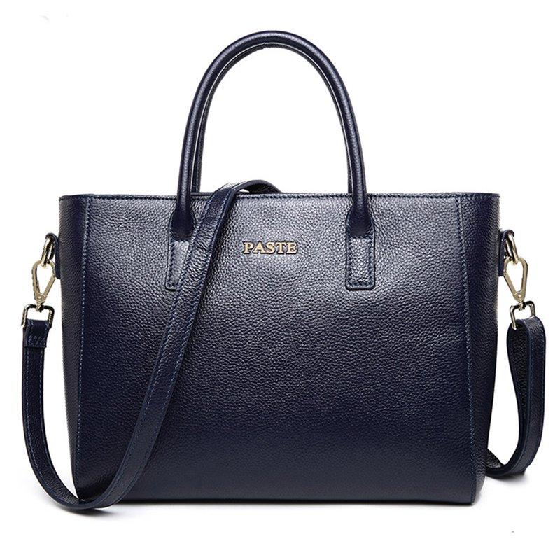 Lady Soft Genuine Leather Vintage Shoulder Handbag Tote Top-handle Big Capacity