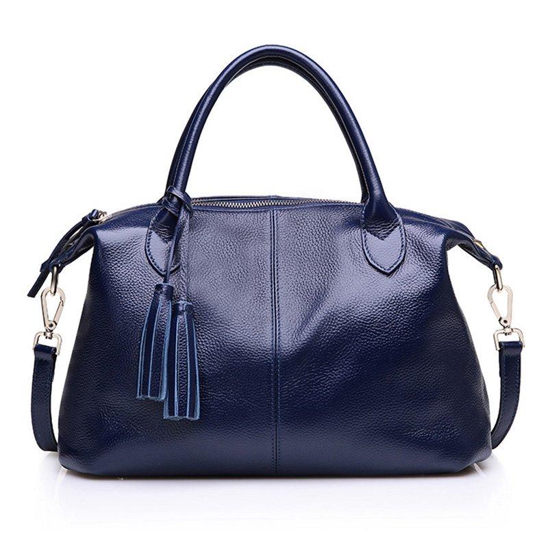 Elegant Genuine Leather Shoulder Handbag Large Size
