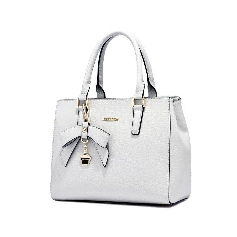 Bowknot Pendant Tote Handbag