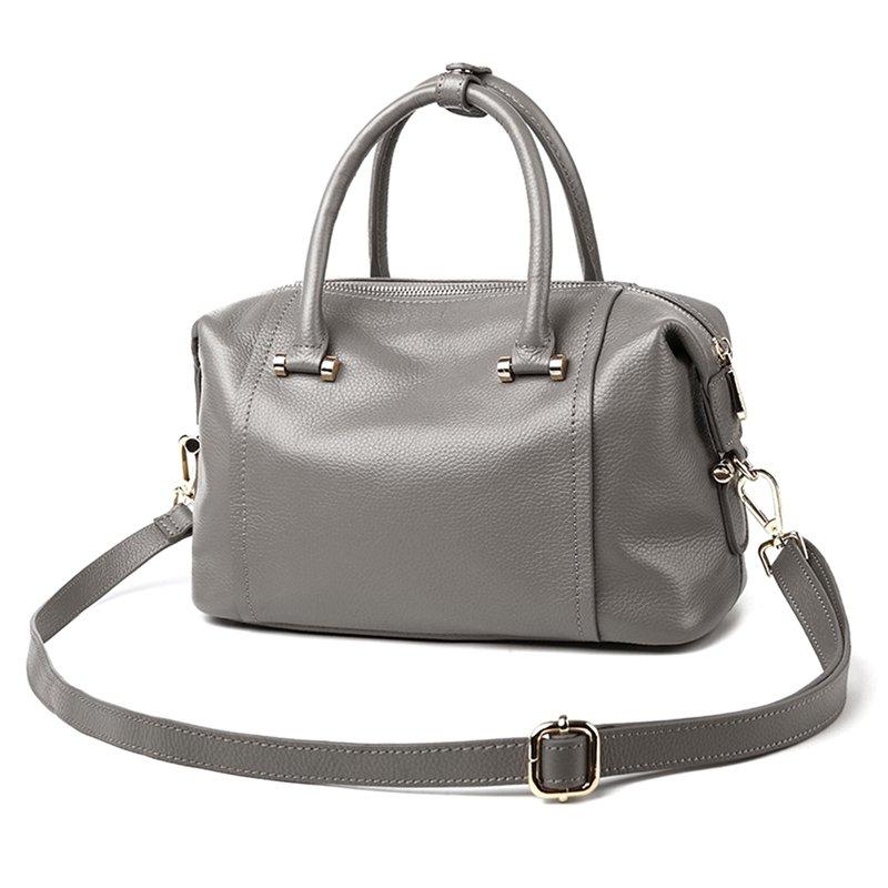 More Color Genuine Leather Shoulder Handbag