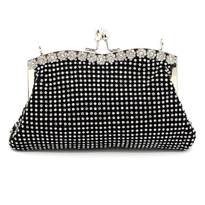 Kiss Lock Diamond Soft Purse Handbag for Women