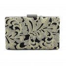 Floral Embroidery Clutch Hard Case