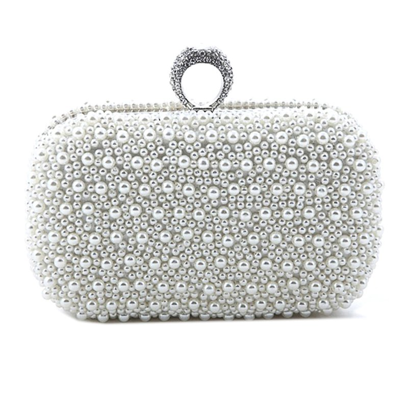 Luxury Ring Pearl Clutch Evening Bag