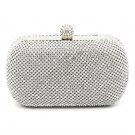 Glamour Evening Bag Crystal Hard Case Clutch Handbag