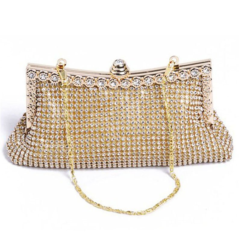 All-Over Diamond Covered Evening Bag Clutch