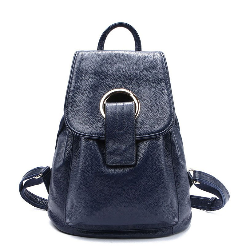 Genuine Leather Backpack for Girls