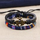 Alloy Pirate Rope PU Leather Bracelet