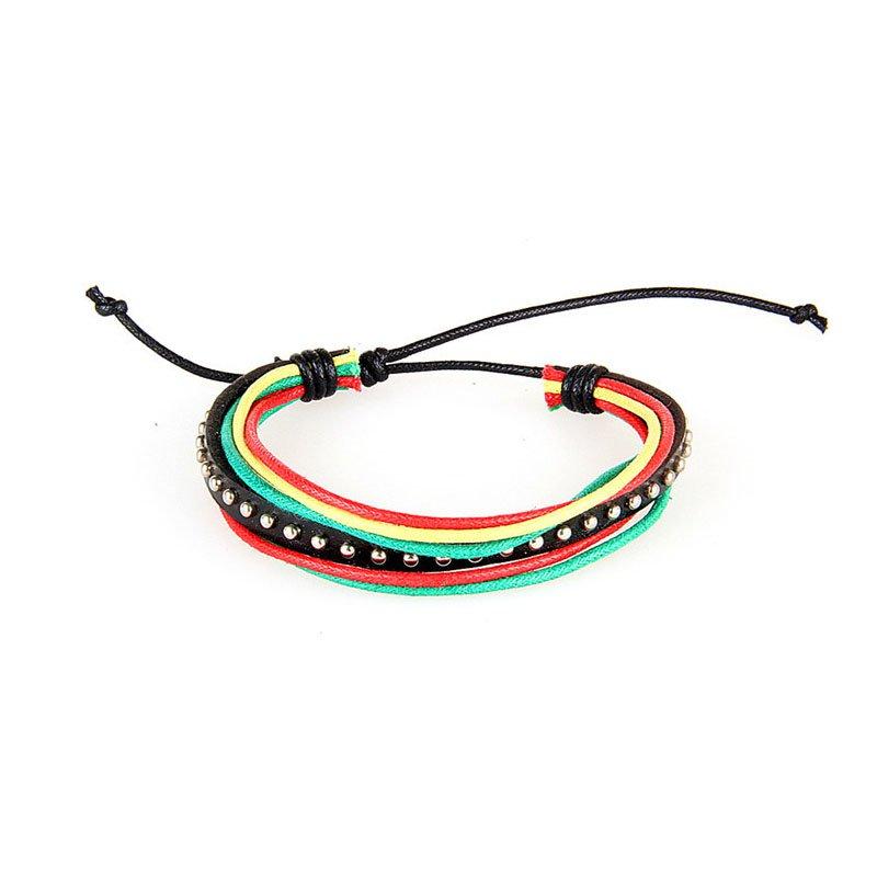 Multilayer Rivets PU Leather Bracelet 8 Colors