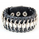Centipede Pattern PU Leather Bracelet