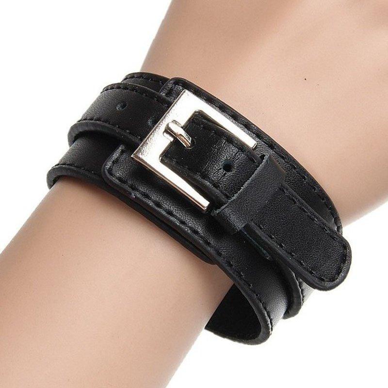 Buckle Adjustable PU Leather Bracelet