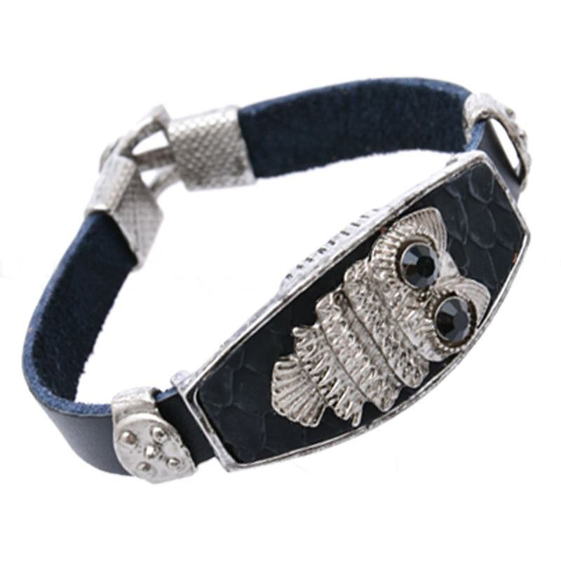 Genuine Real Ox Alloy Leather Bracelets