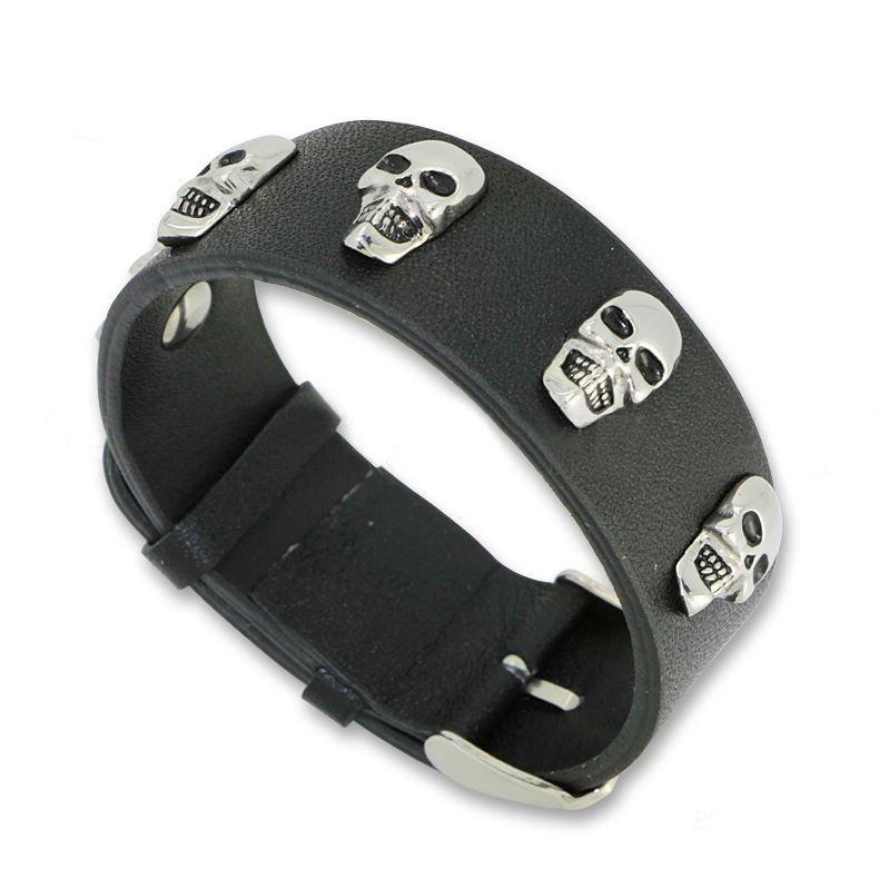 Metal Style Metal Skull Belts Adjustable Leather Bracelets