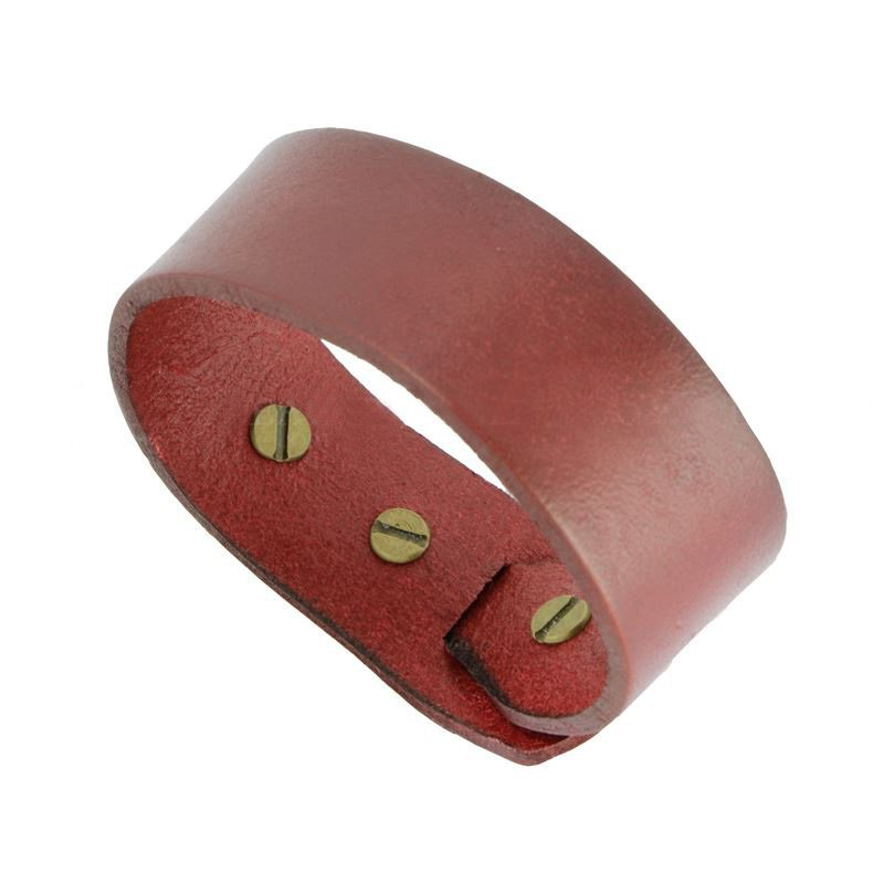 Luxury Temperament Red Alloy Leather Bracelets