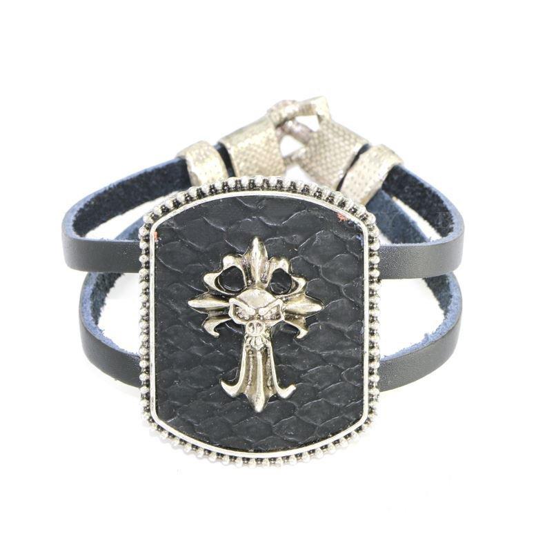 High Class Devil Black Alloy Leather Bracelets