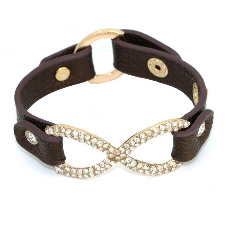 Crystal Alloy Leather Bracelets