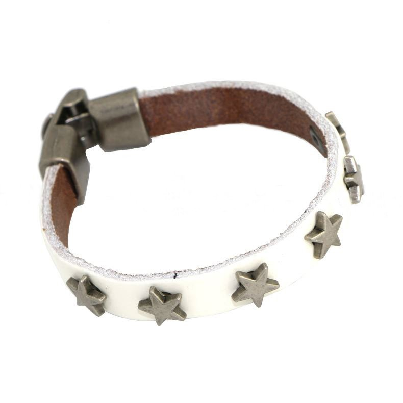 Attractive Metal Star Alloy Leather Bracelets