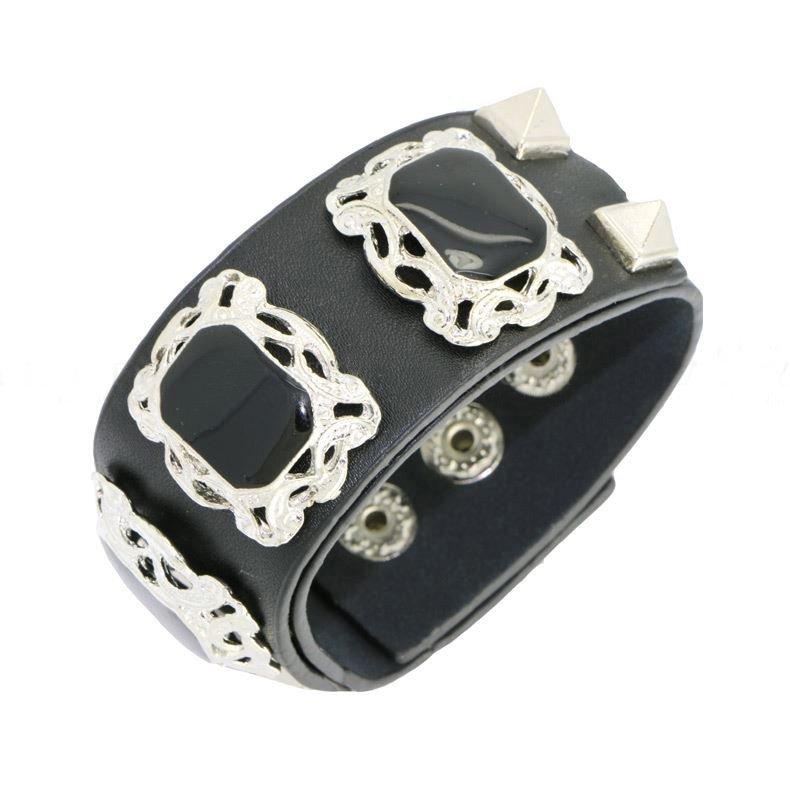 Elegant Jewelry Rivet Snap Button Leather Bracelets
