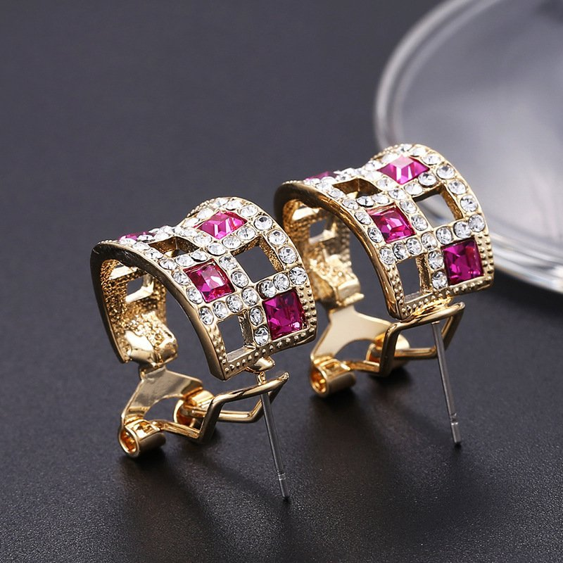 Zinc Alloy Earrings Made with Swarovski Elements Crystal