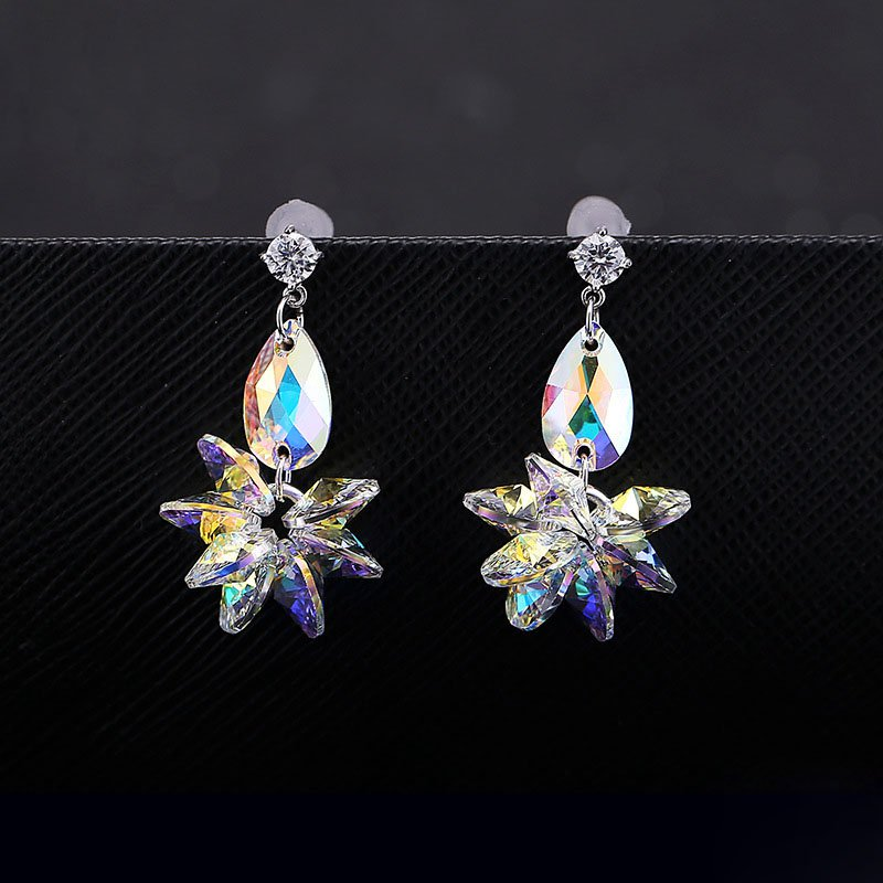 S925 sterling sliver Earrings Made with Swarovski Elements Crystal