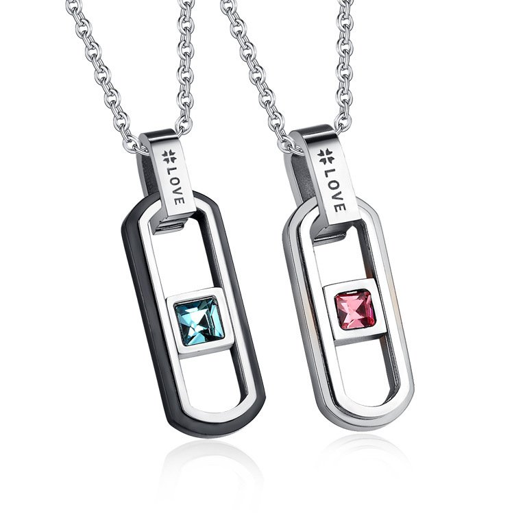 Colored Diamond Love Necklace