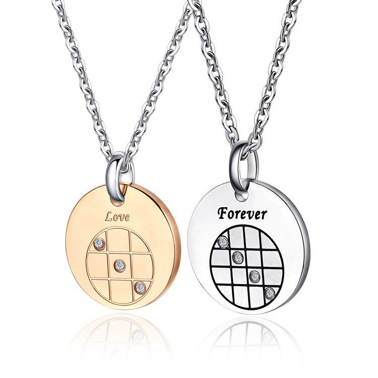 Round Couple Necklaces